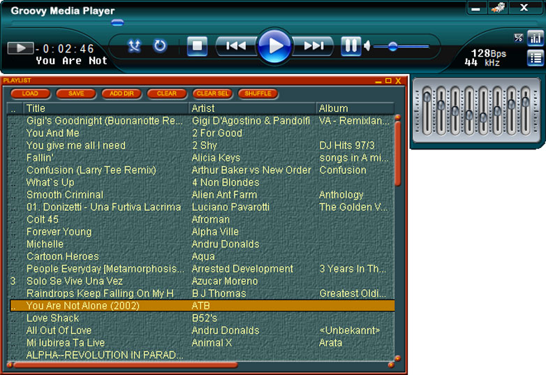Click to view Groovy Media Player 3.3.0 screenshot