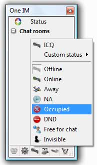 One Instant Messenger screenshot